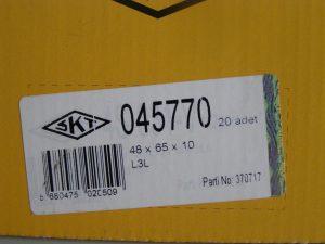 Пример маркировки трехмерного уплотнения