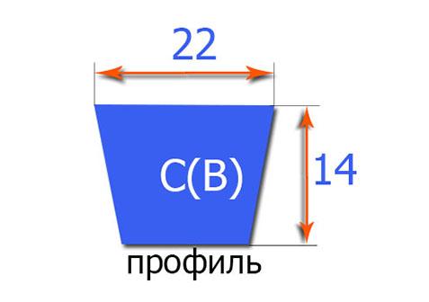 Клиновый ремень классического профиля  22x6858/6916Li/Lp(C-270)