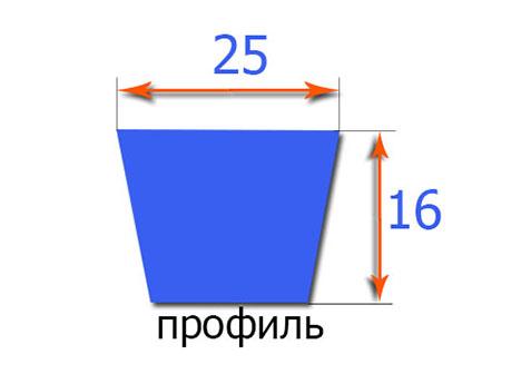 Клиновый ремень классического профиля  25x6300Li