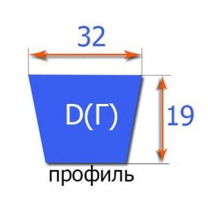 Клиновый ремень классического профиля  D(Г) 4500