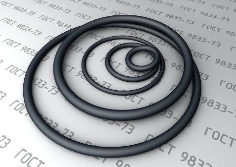 Кольца уплотнительные стандарта ГОСТ 9833-73