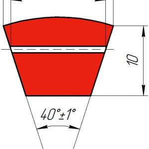 Узкоклиновый ремень с формованным зубом  XPA 1257