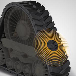 Интеллектуальная сенсорная резиновая гусеница, @Contitech