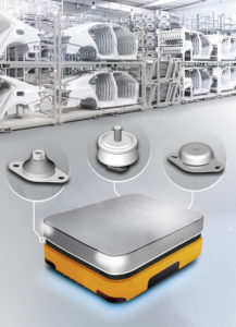 Специальные компоненты Continental могут препятствовать передаче вибраций в электронные блоки автономных транспортных единиц. Фотография Continental