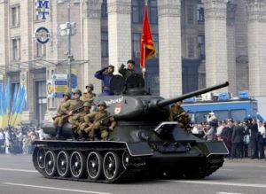 День Победы на Крещатике в Киеве